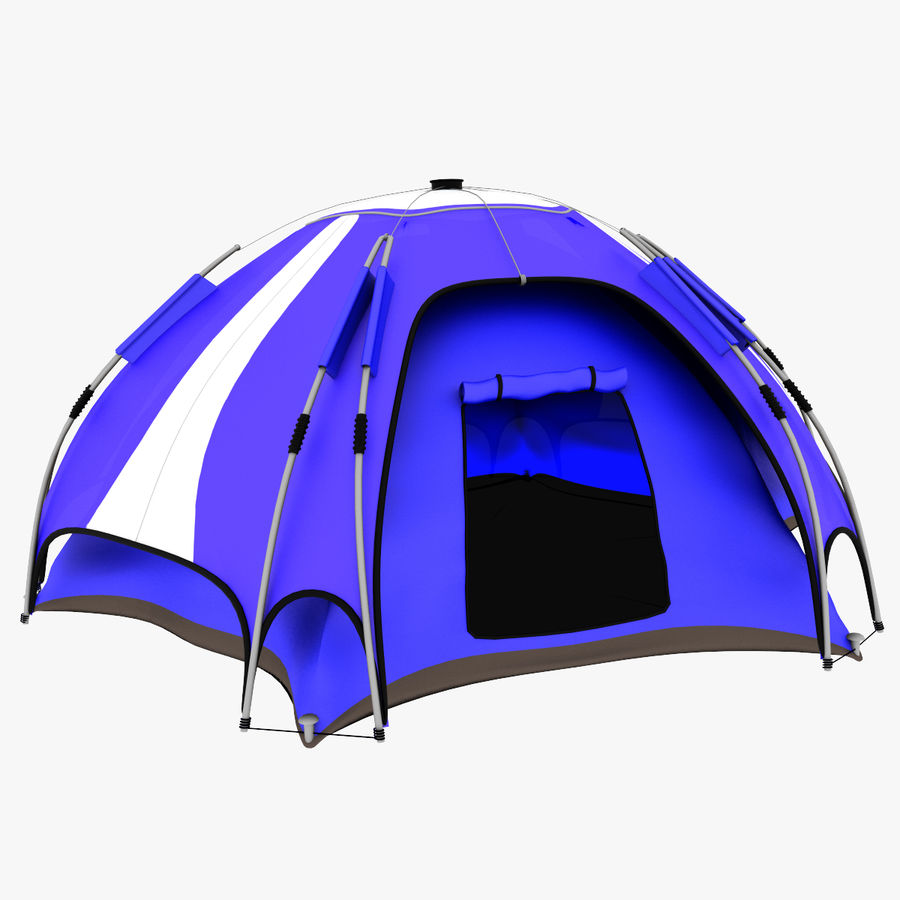 camping tent 4 royalty-free 3d model - Preview no. 2