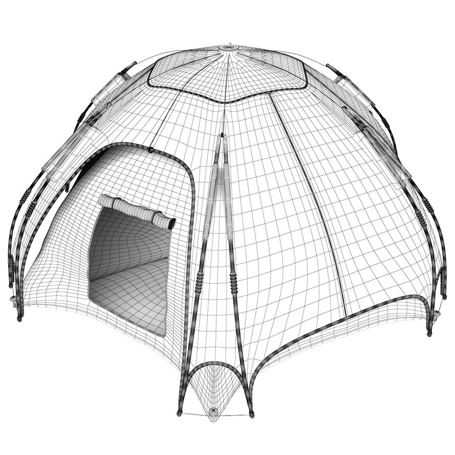 camping tent 4 royalty-free 3d model - Preview no. 9