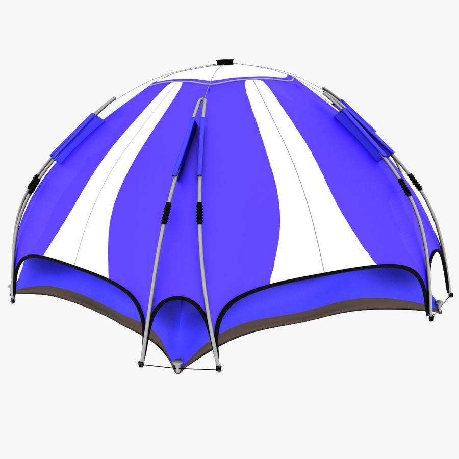 camping tent 4 royalty-free 3d model - Preview no. 4