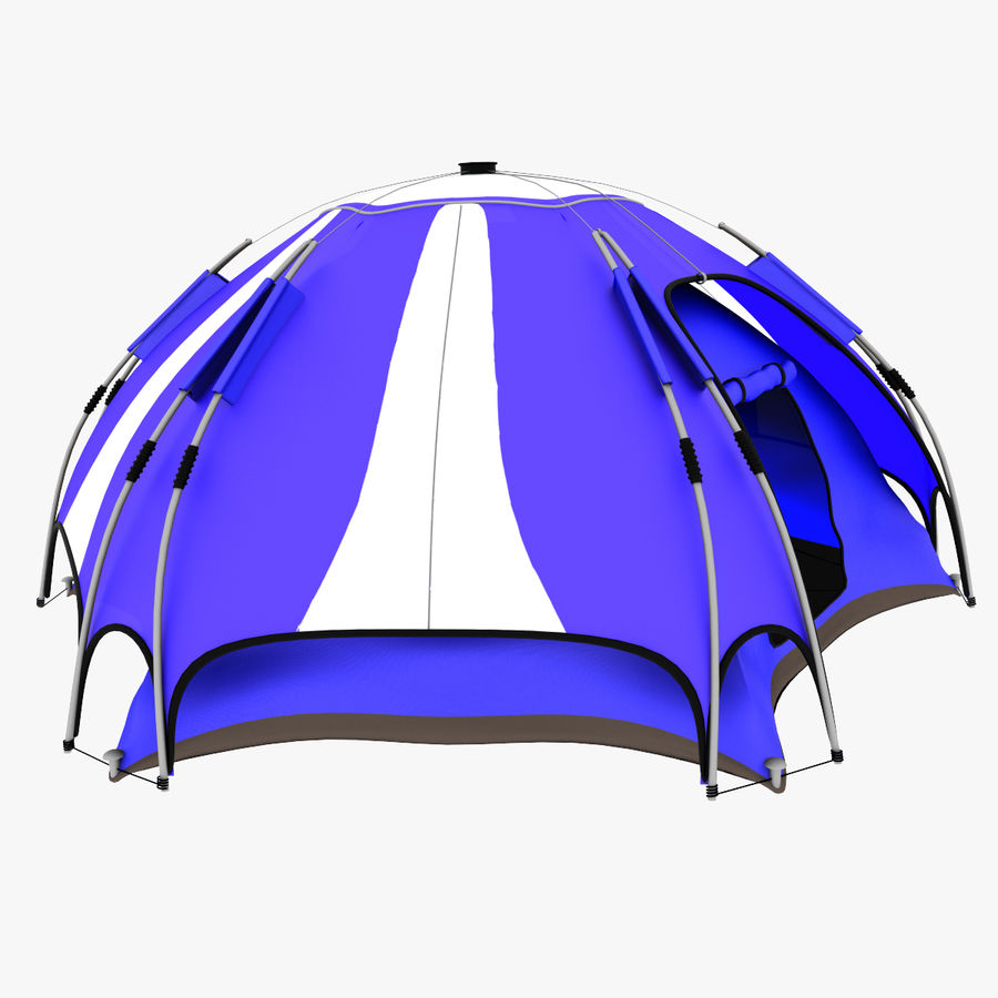 camping tent 4 royalty-free 3d model - Preview no. 6