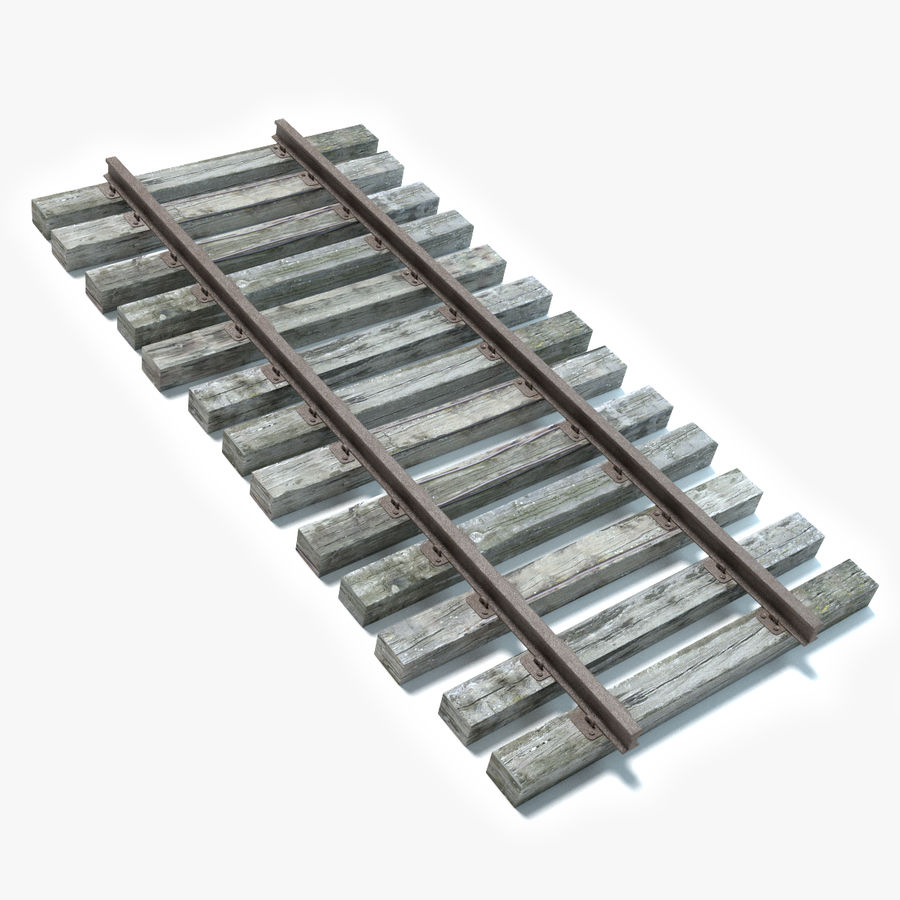 Railroad Track royalty-free 3d model - Preview no. 1