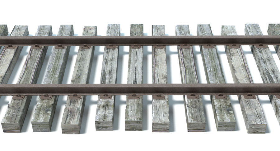 Railroad Track royalty-free 3d model - Preview no. 3