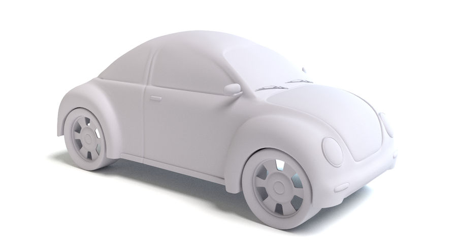 Voiture de bande dessinée royalty-free 3d model - Preview no. 6
