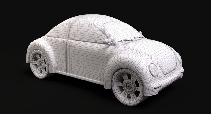Voiture de bande dessinée royalty-free 3d model - Preview no. 7