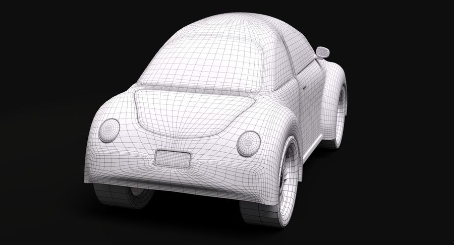 Voiture de bande dessinée royalty-free 3d model - Preview no. 9