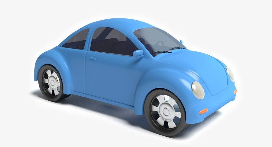 Voiture de bande dessinée royalty-free 3d model - Preview no. 2