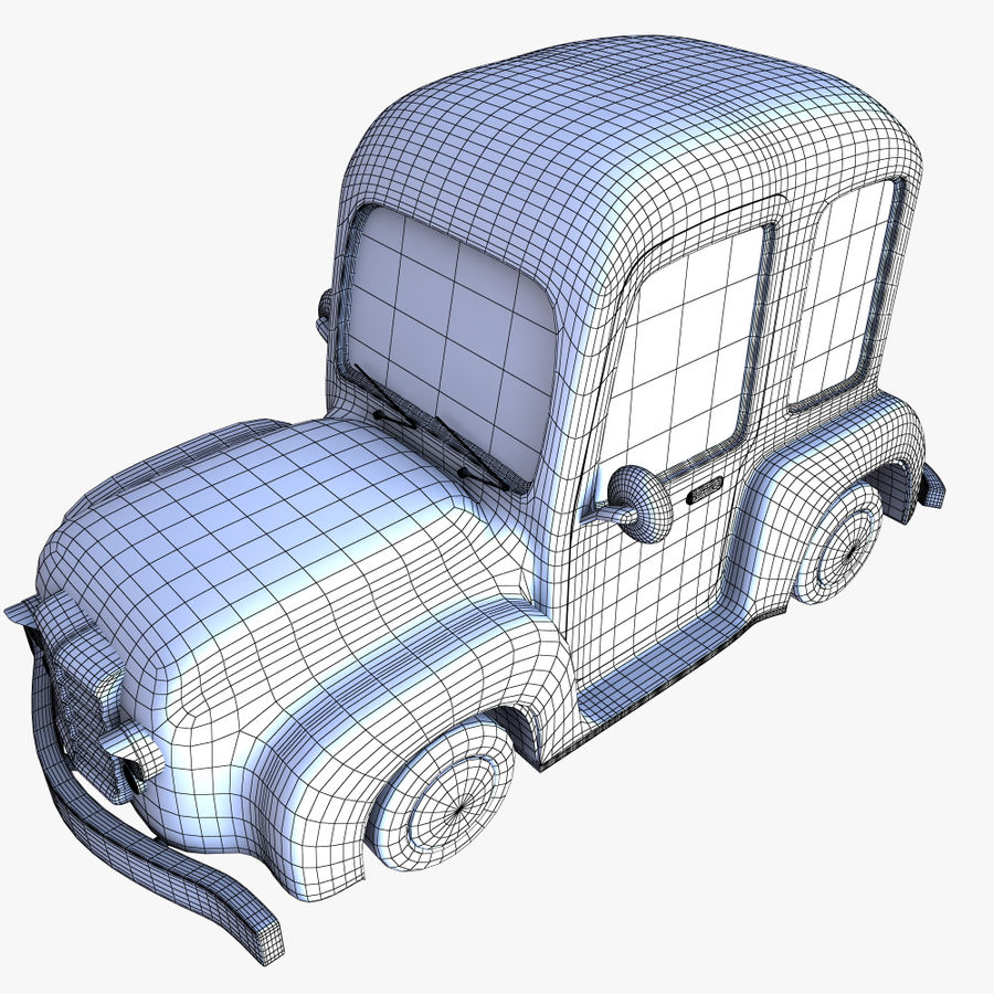 çizgi araba 3 royalty-free 3d model - Preview no. 11