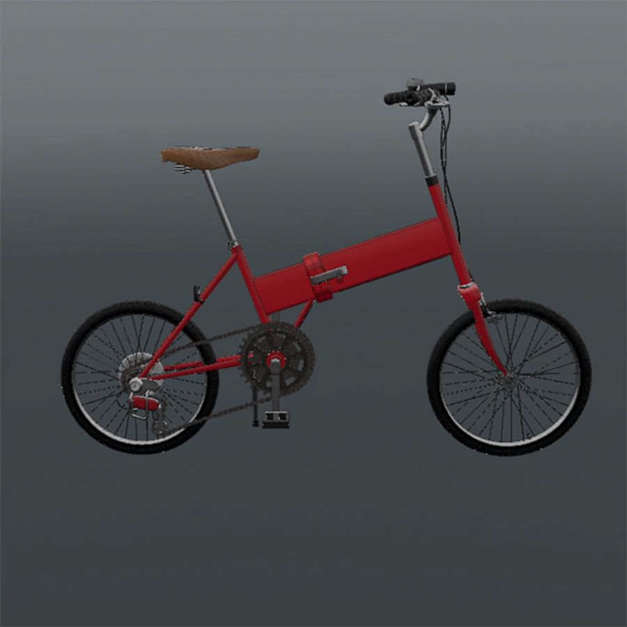 Bicycle Mini royalty-free 3d model - Preview no. 6
