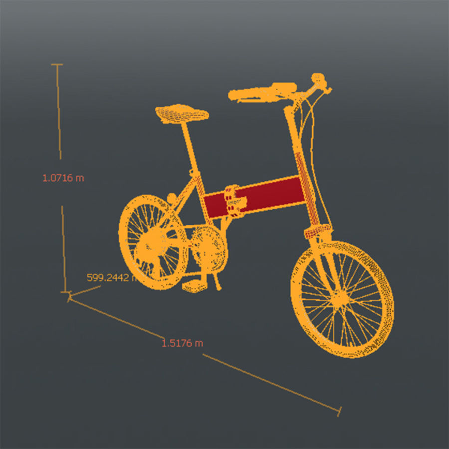 Bicycle Mini royalty-free 3d model - Preview no. 5