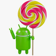 Android Lollipop 3d model
