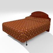 Bed met dekbedovertrek 3d model