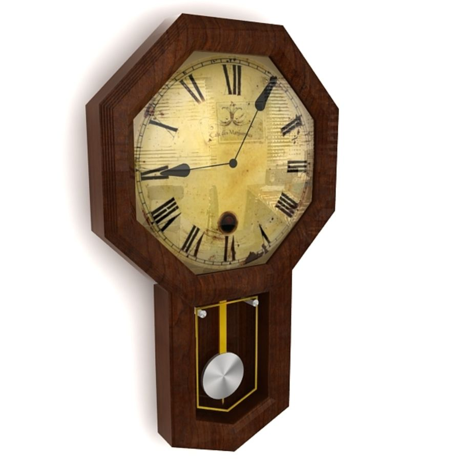 Historical clock royalty-free 3d model - Preview no. 2