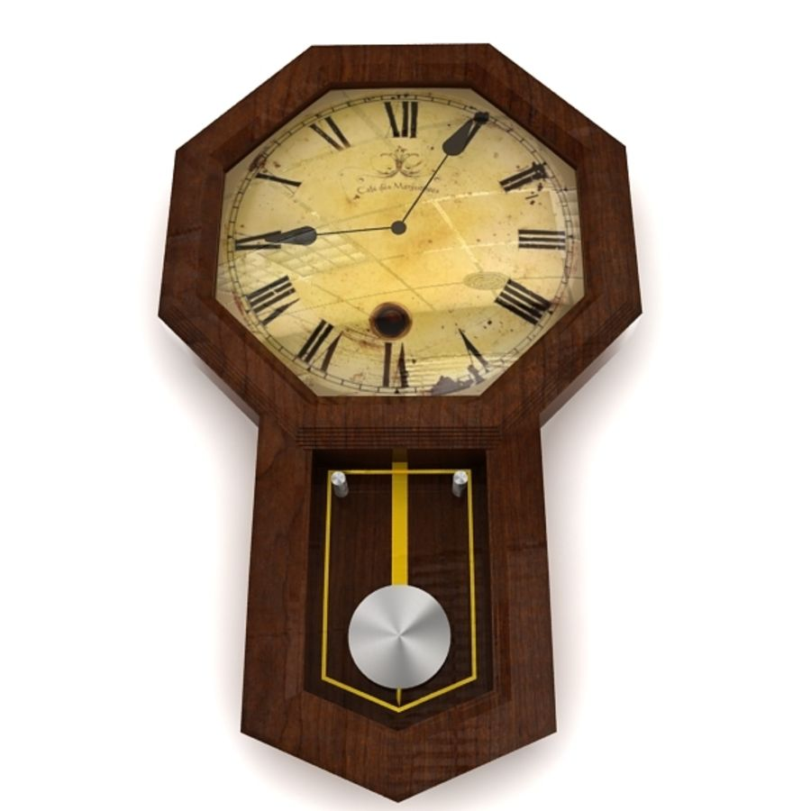 Historical clock royalty-free 3d model - Preview no. 4