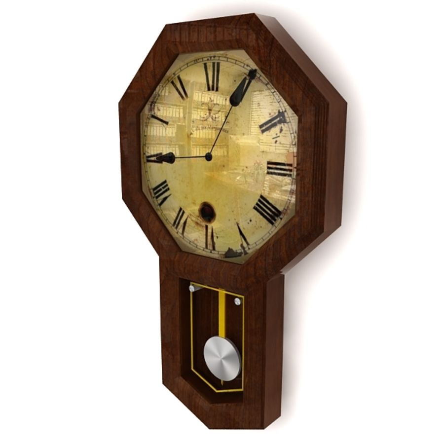Historical clock royalty-free 3d model - Preview no. 3