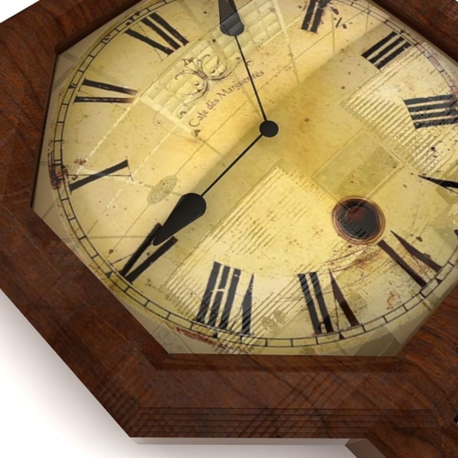 Historical clock royalty-free 3d model - Preview no. 8