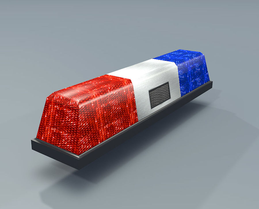 Amazing Police Lights Textured Royalty Free 3d Model   Preview No. 2
