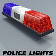 Police Lights textured 3d model