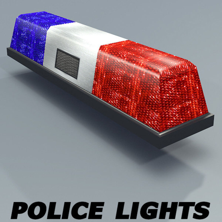 Police Lights Textured Royalty Free 3d Model   Preview No. 1