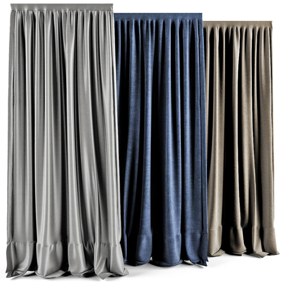 Curtains royalty-free 3d model - Preview no. 5