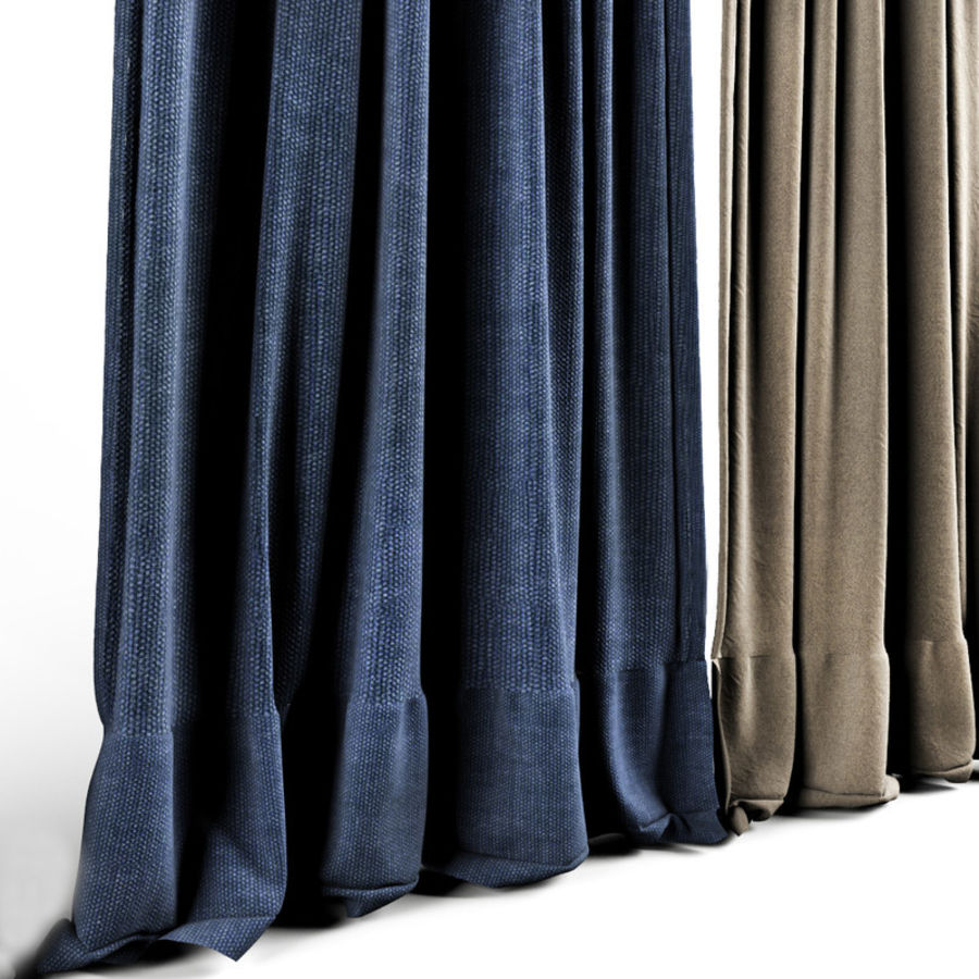 Curtains royalty-free 3d model - Preview no. 3