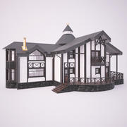 Wooden Family house 3d model