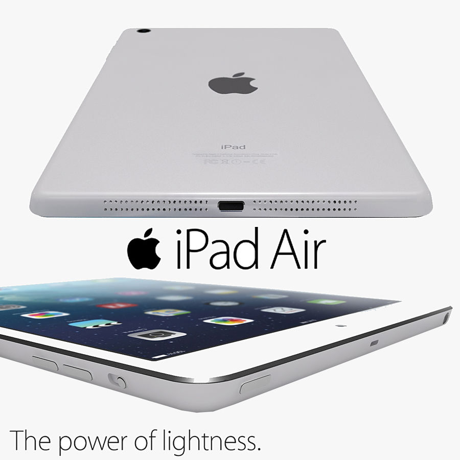 Apple Ipad Air royalty-free 3d model - Preview no. 1