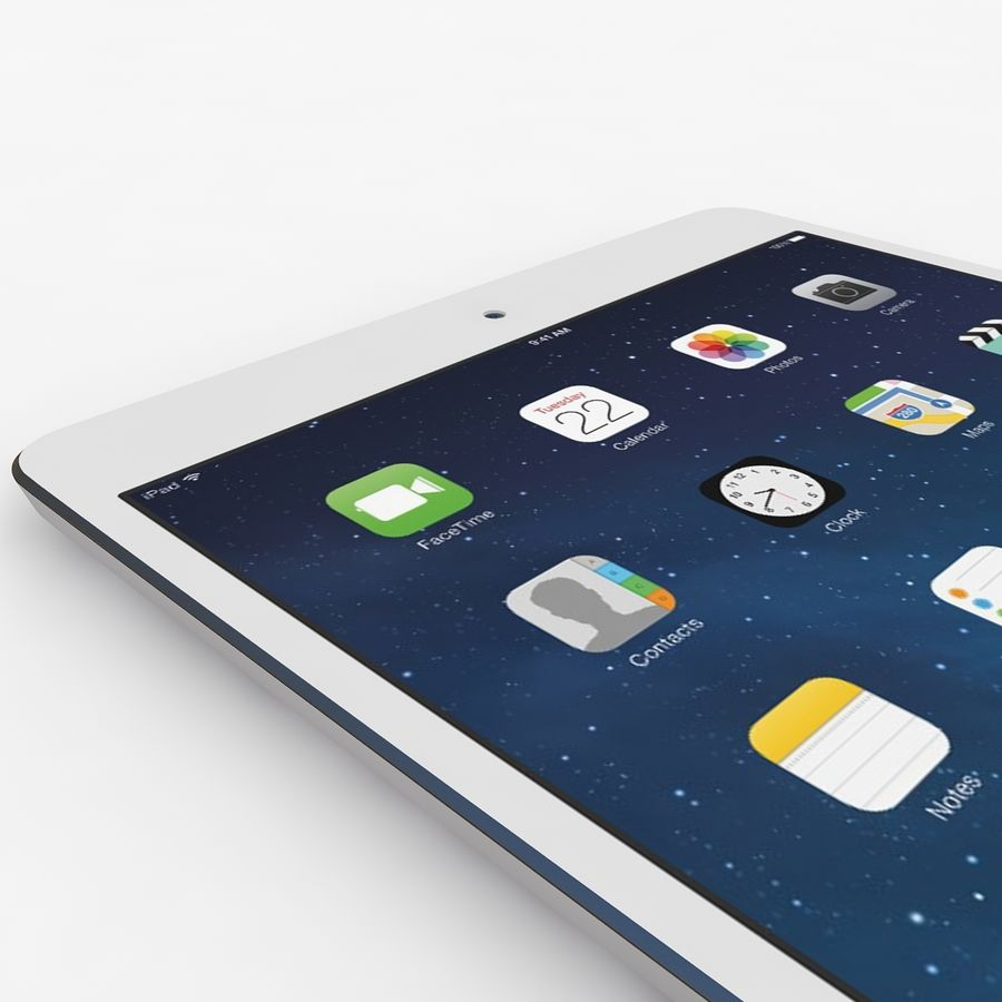 Apple Ipad Air royalty-free 3d model - Preview no. 4