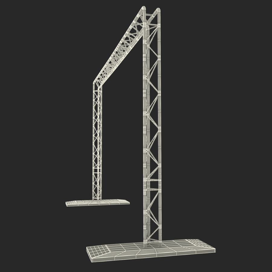 Truss(1) royalty-free 3d model - Preview no. 21
