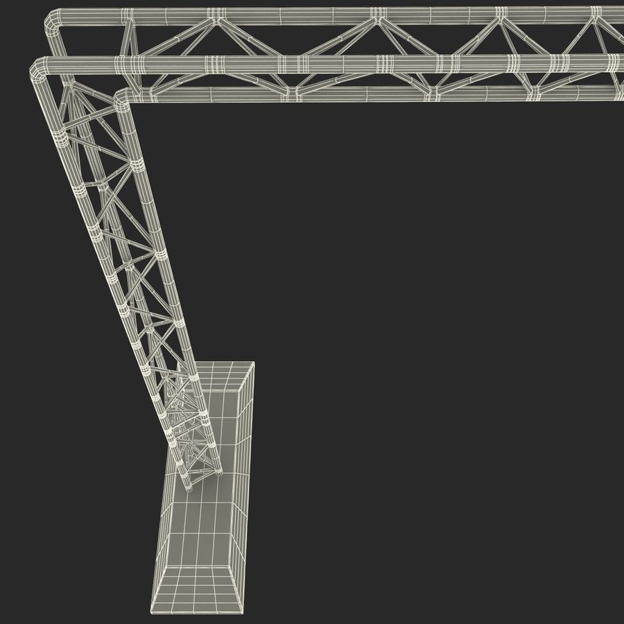 Truss(1) royalty-free 3d model - Preview no. 24