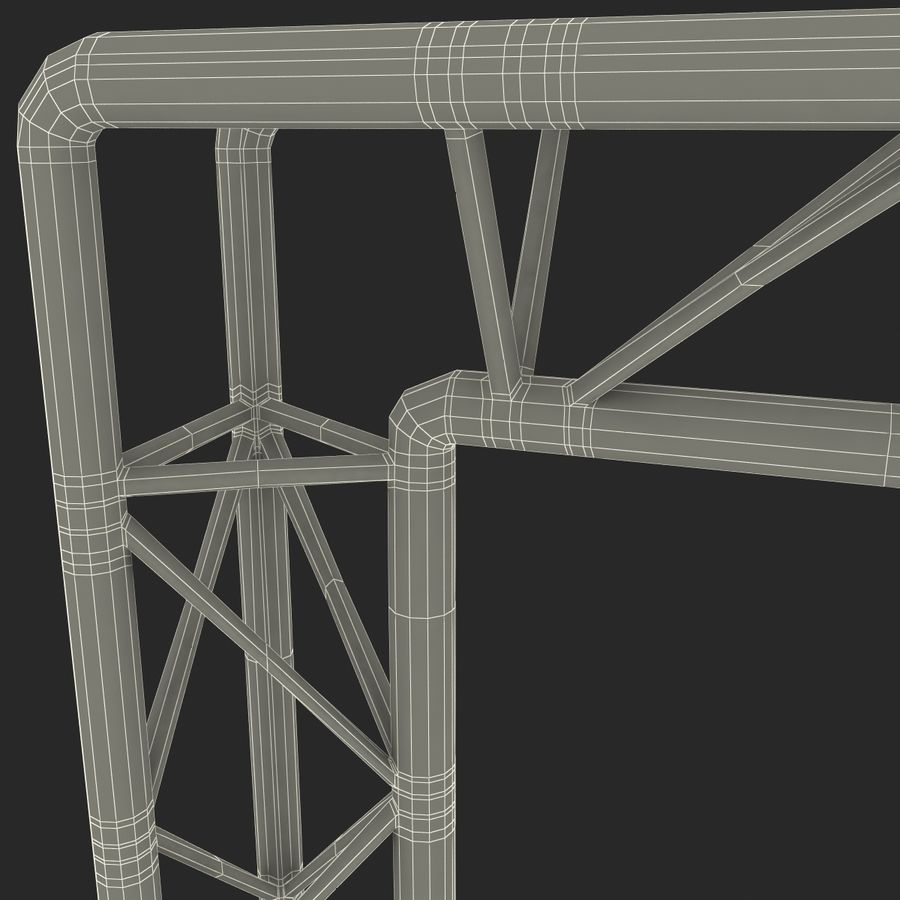 Truss(1) royalty-free 3d model - Preview no. 26
