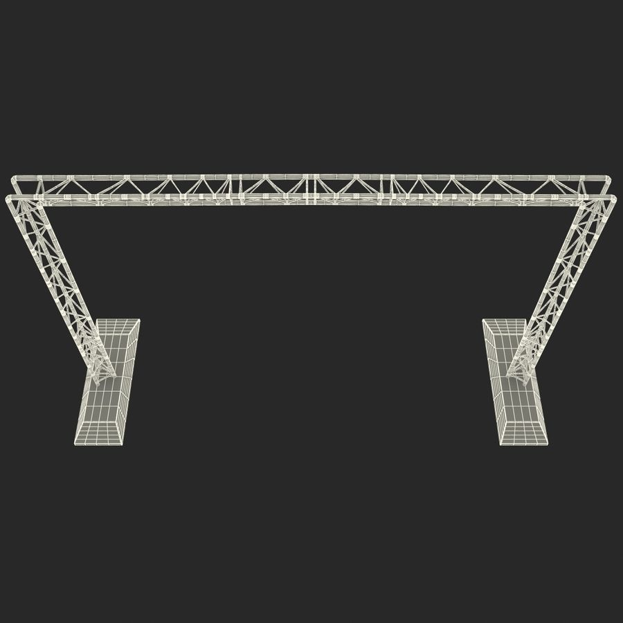 Truss(1) royalty-free 3d model - Preview no. 22