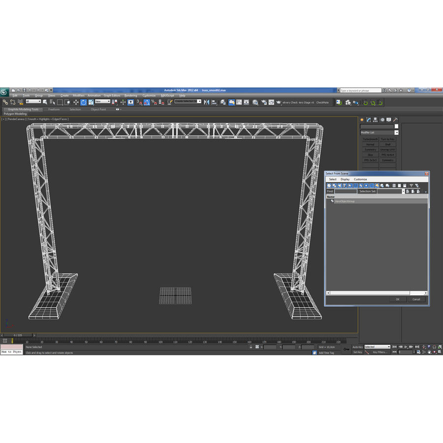 Truss(1) royalty-free 3d model - Preview no. 20