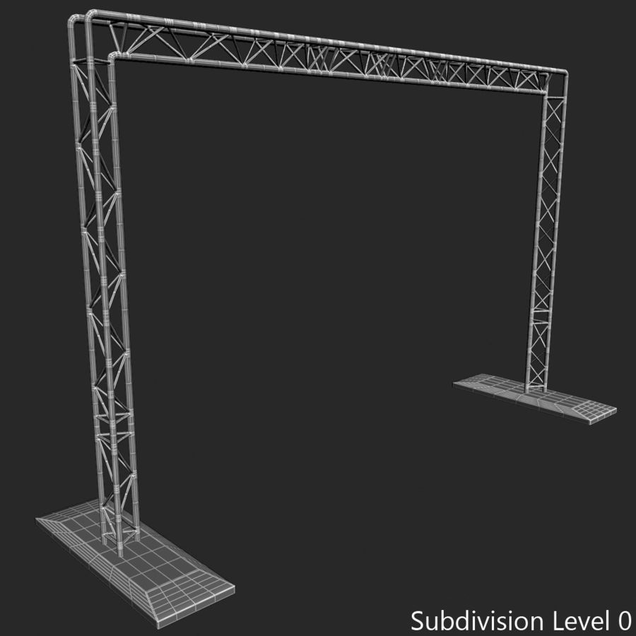Truss(1) royalty-free 3d model - Preview no. 16