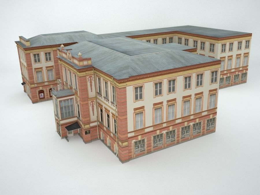 museum  building royalty-free 3d model - Preview no. 9