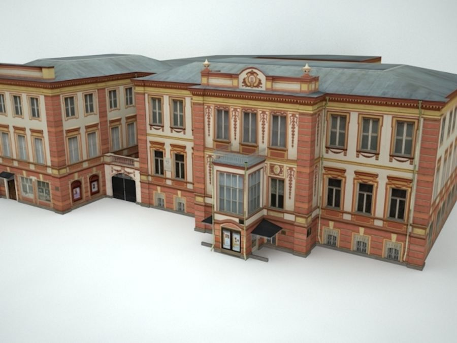 museum  building royalty-free 3d model - Preview no. 1