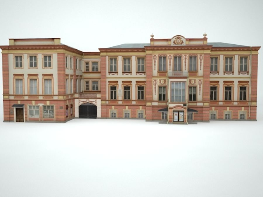 museum  building royalty-free 3d model - Preview no. 6