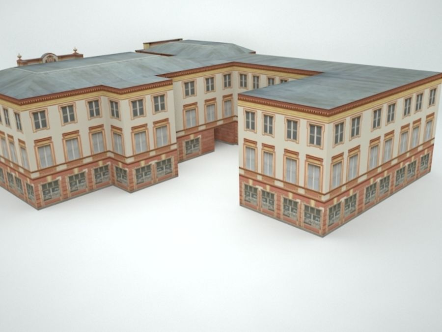 museum  building royalty-free 3d model - Preview no. 10
