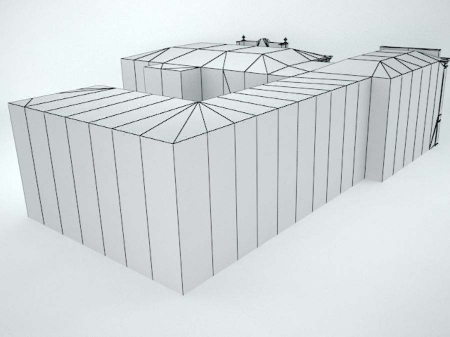 museum  building royalty-free 3d model - Preview no. 14