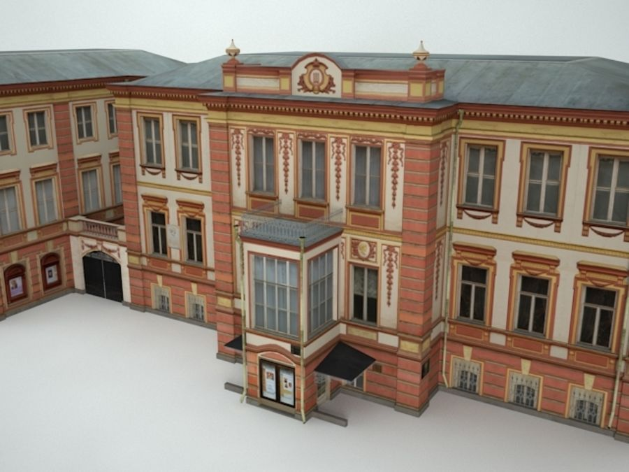 museum  building royalty-free 3d model - Preview no. 2
