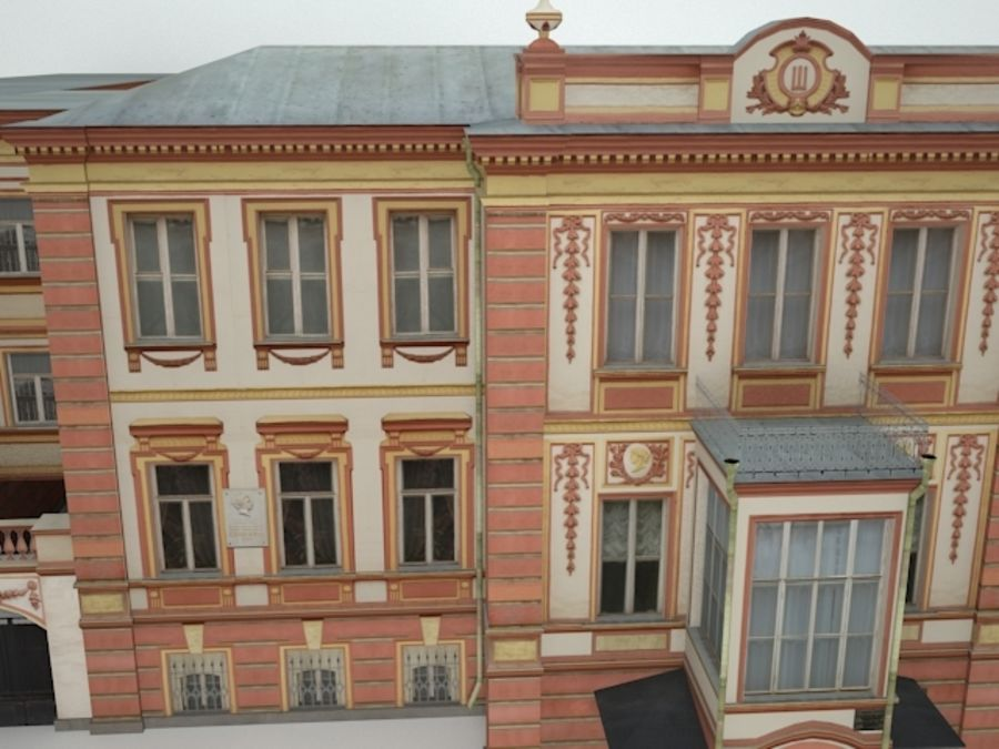 museum  building royalty-free 3d model - Preview no. 4
