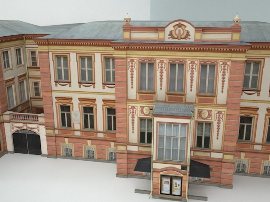 museum  building royalty-free 3d model - Preview no. 5