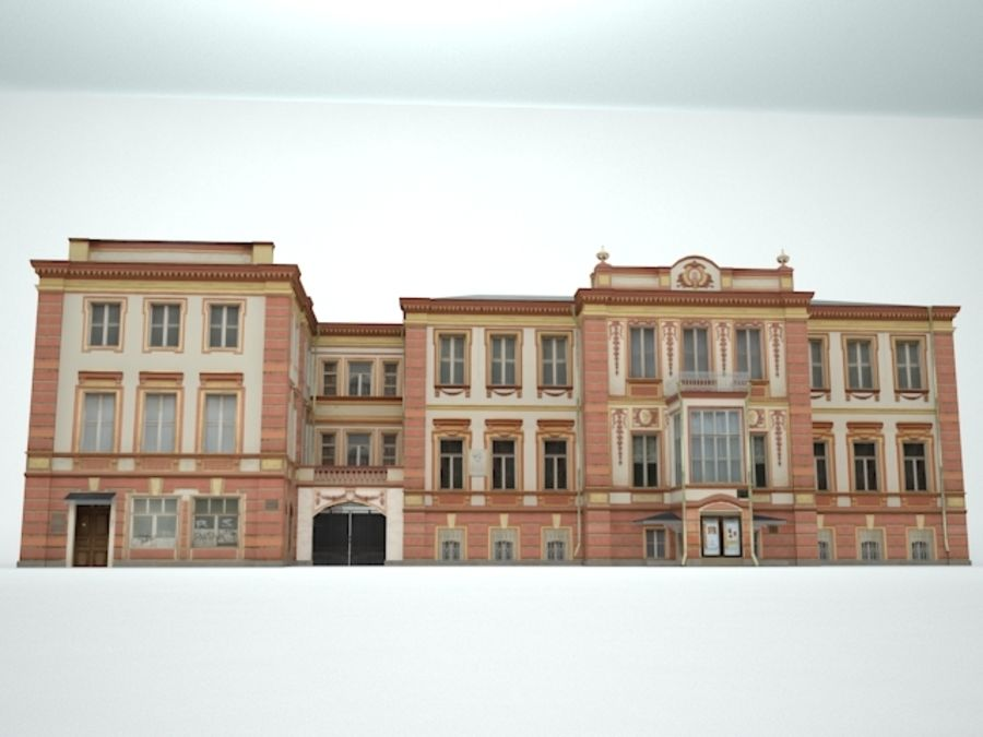 museum  building royalty-free 3d model - Preview no. 7