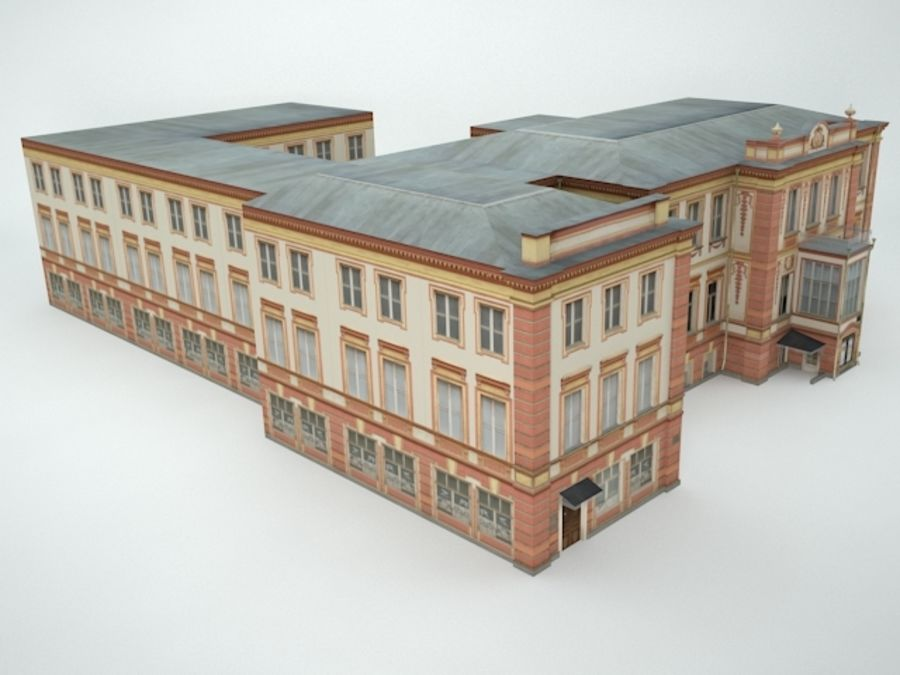 museum  building royalty-free 3d model - Preview no. 11