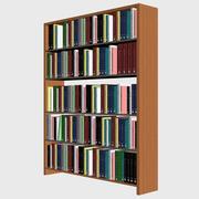 Bookshelf with Books 3d model