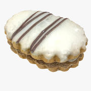 Realistic Baked Cream Cookie 3d model
