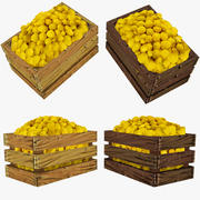 Low Poly Crate of Lemons 3d model