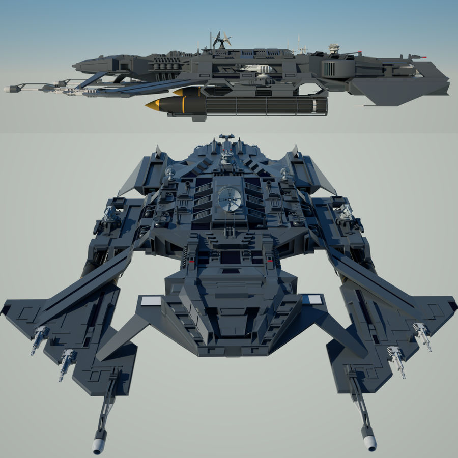 Battlestar royalty-free 3d model - Preview no. 10