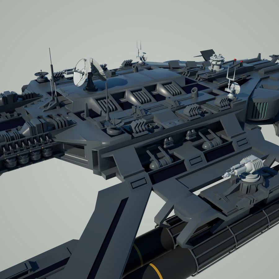 Battlestar royalty-free 3d model - Preview no. 7