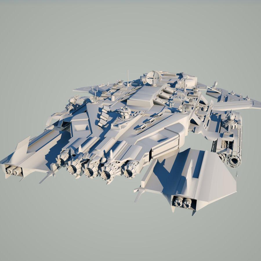 Battlestar royalty-free 3d model - Preview no. 6