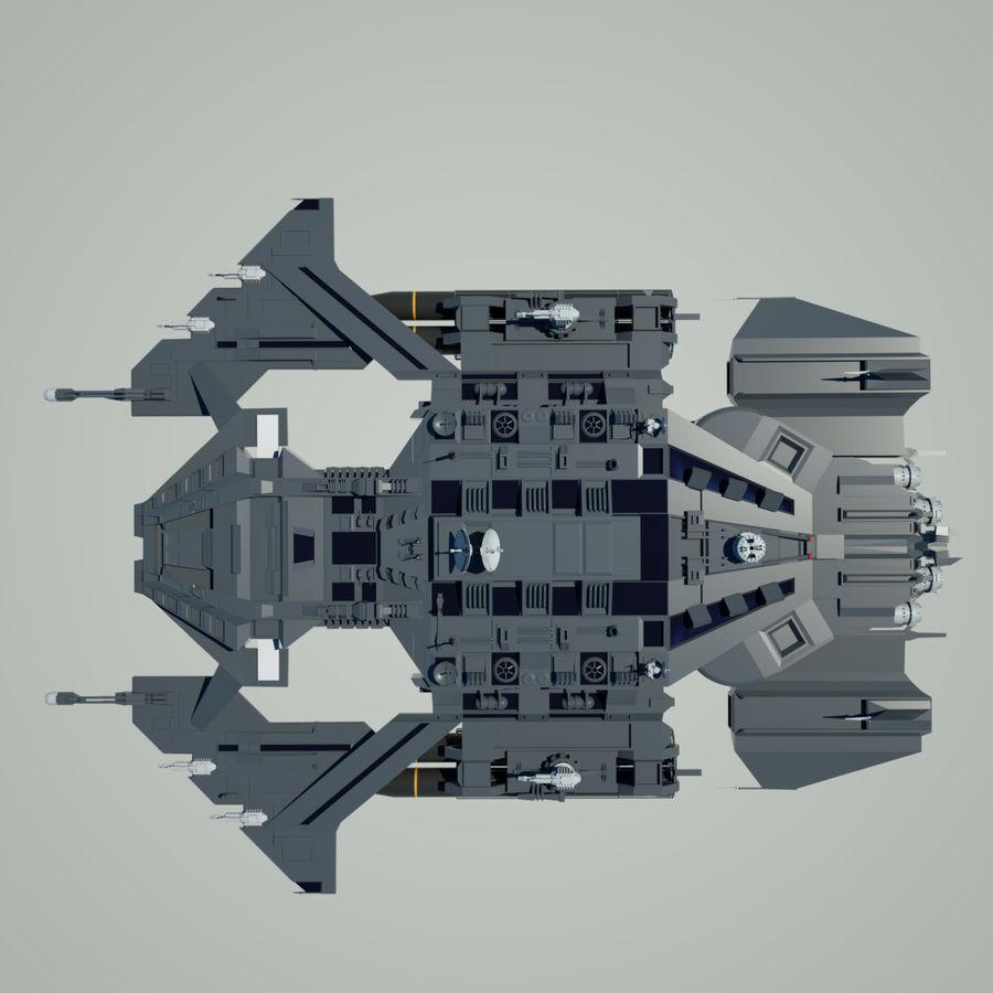 Battlestar royalty-free 3d model - Preview no. 9